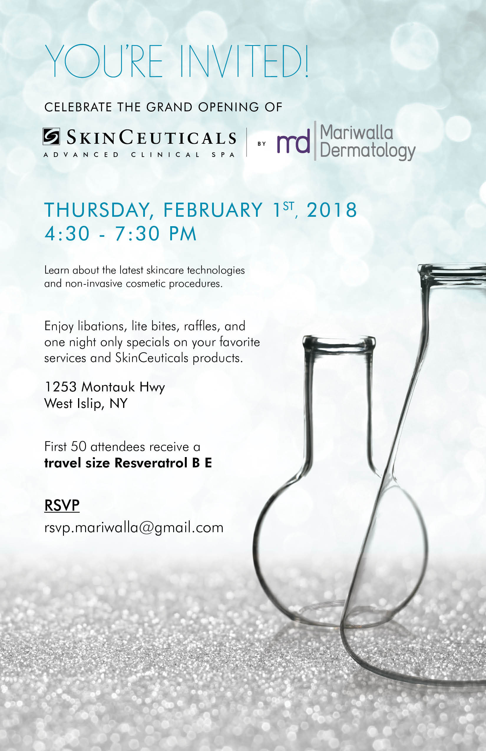 SkinCeuticals Spa Opening Invite